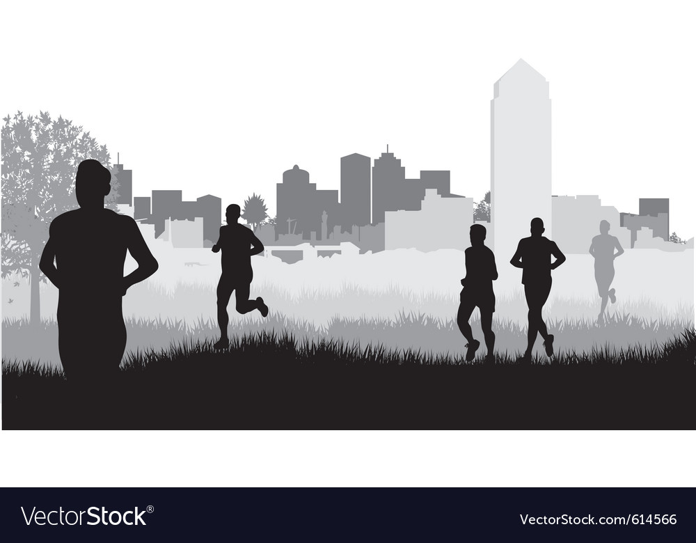 City runners vector | Price: 1 Credit (USD $1)