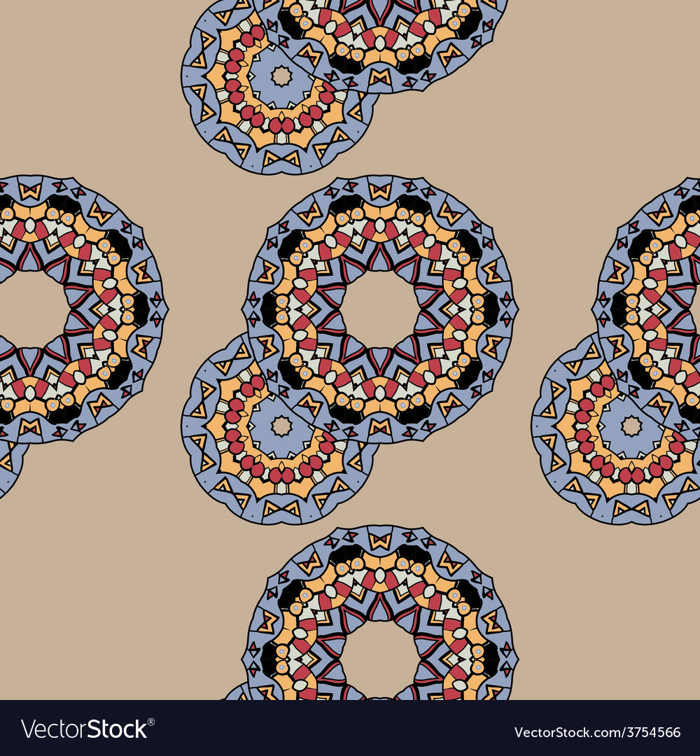 Endless ornate pattern made of indian mandalas vector | Price: 1 Credit (USD $1)