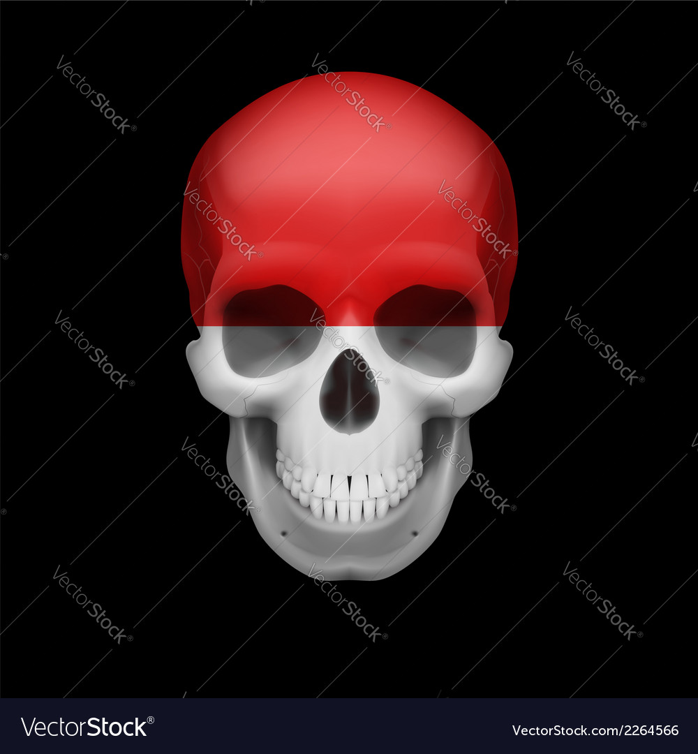 Monacan flag skull vector | Price: 1 Credit (USD $1)