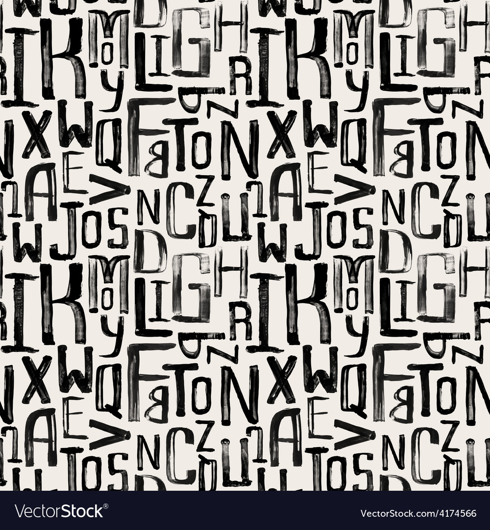 Seamless vintage style pattern grunge letters vector