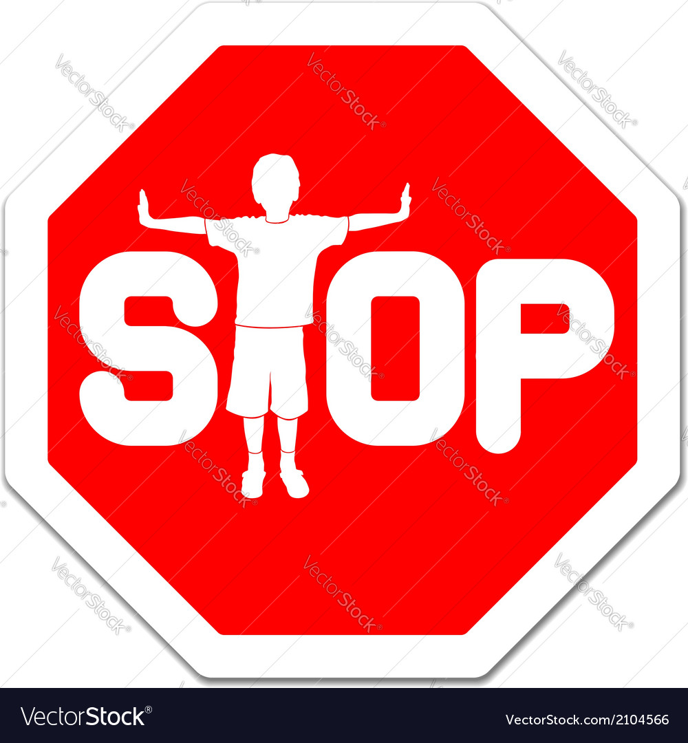 Stop sign vector | Price: 1 Credit (USD $1)