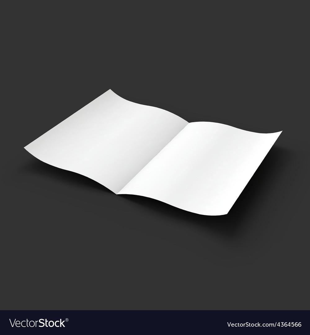 White blank magazine spread business mockup vector | Price: 1 Credit (USD $1)