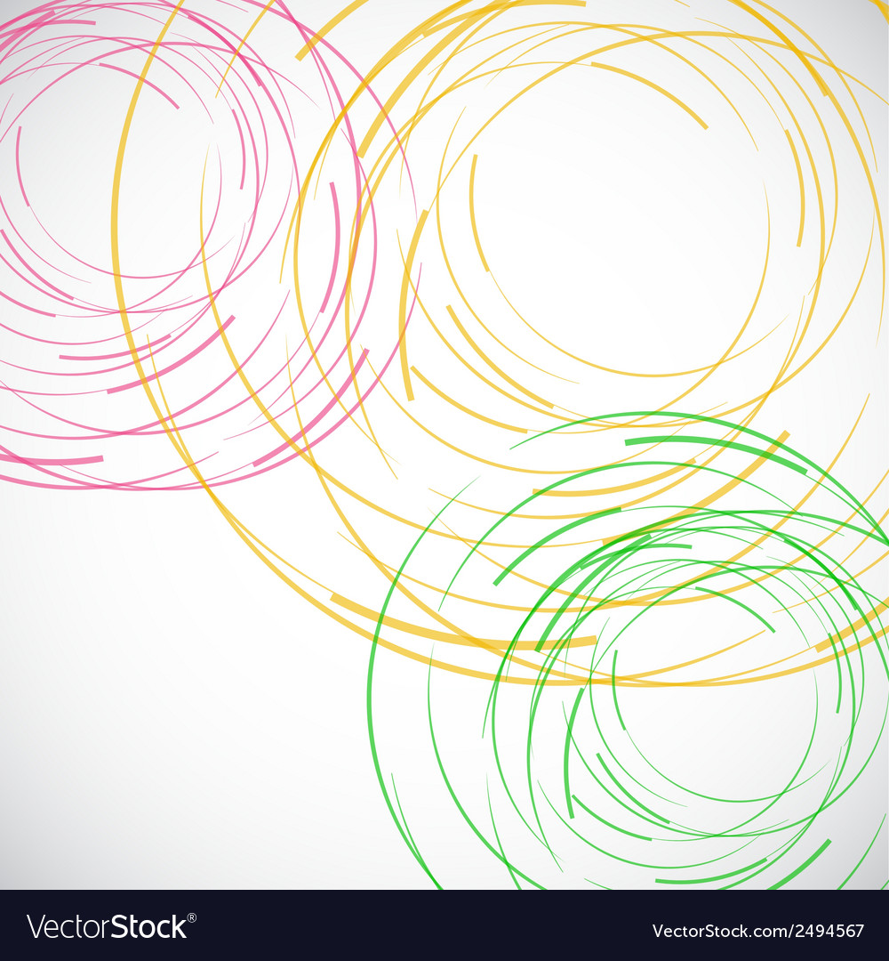 Abstract color line and circle background vector | Price: 1 Credit (USD $1)