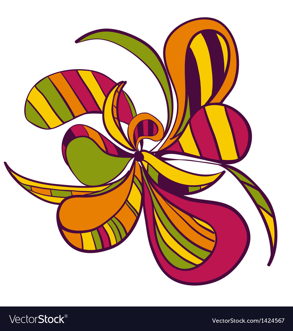 Abstract hand draw strange flower style figure vector | Price: 1 Credit (USD $1)