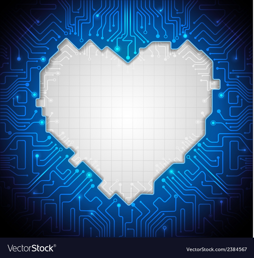 Abstract technology with circuit lines vector | Price: 1 Credit (USD $1)
