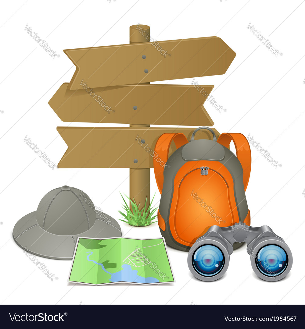 Camping accessories concept vector | Price: 1 Credit (USD $1)