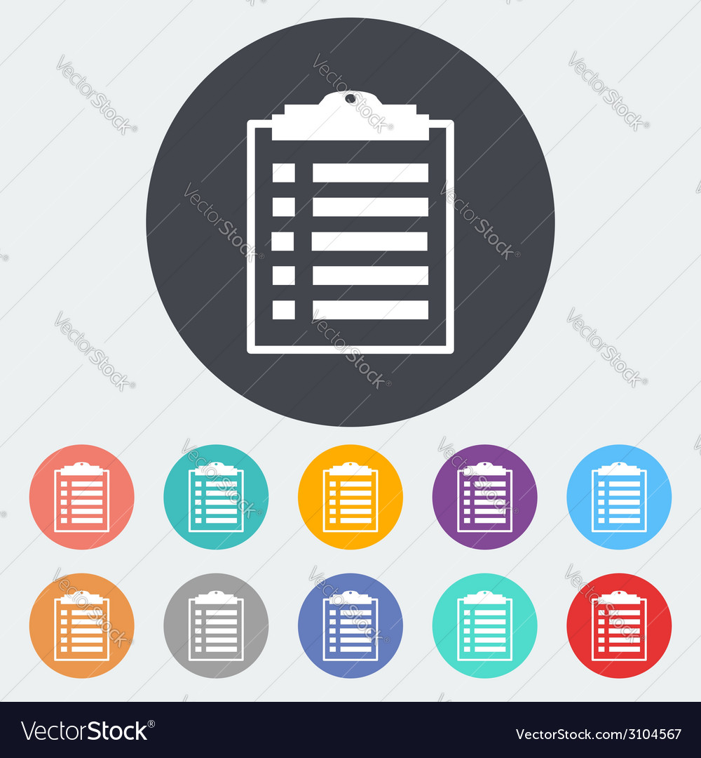 Clipboard icon vector | Price: 1 Credit (USD $1)