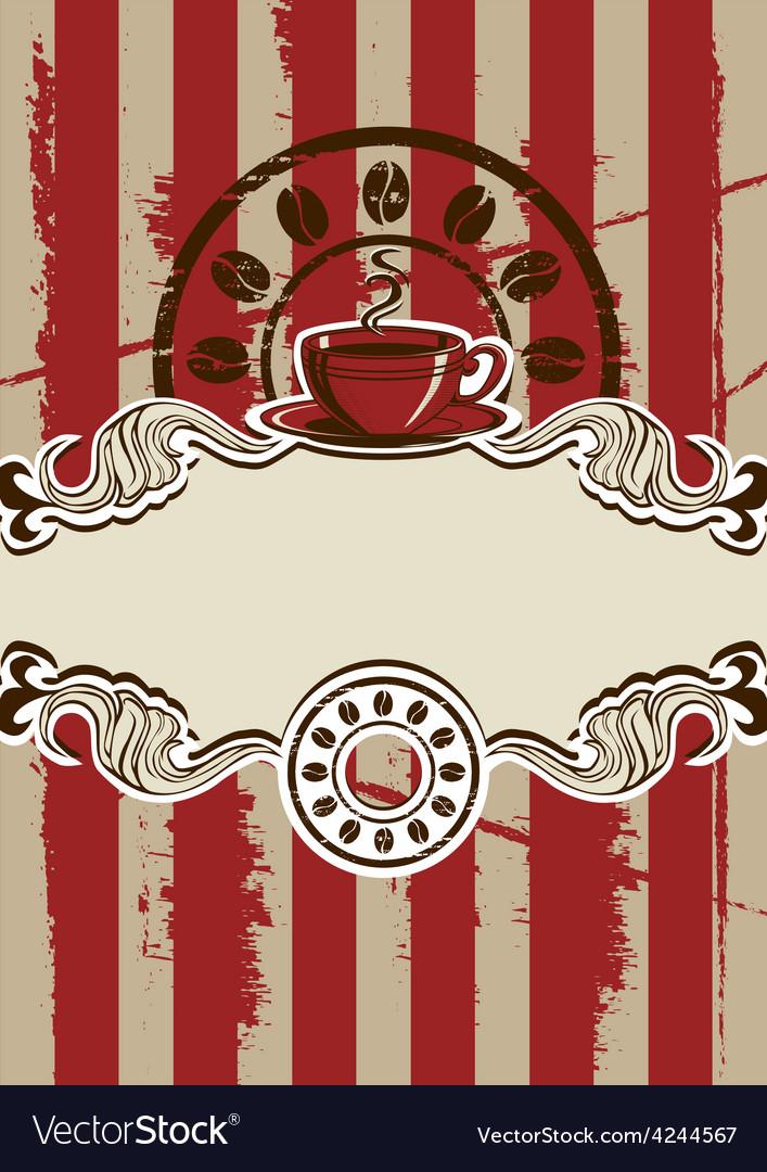 Coffe cup menu vector | Price: 1 Credit (USD $1)