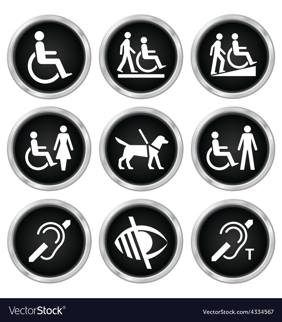 Disability icons vector | Price: 1 Credit (USD $1)
