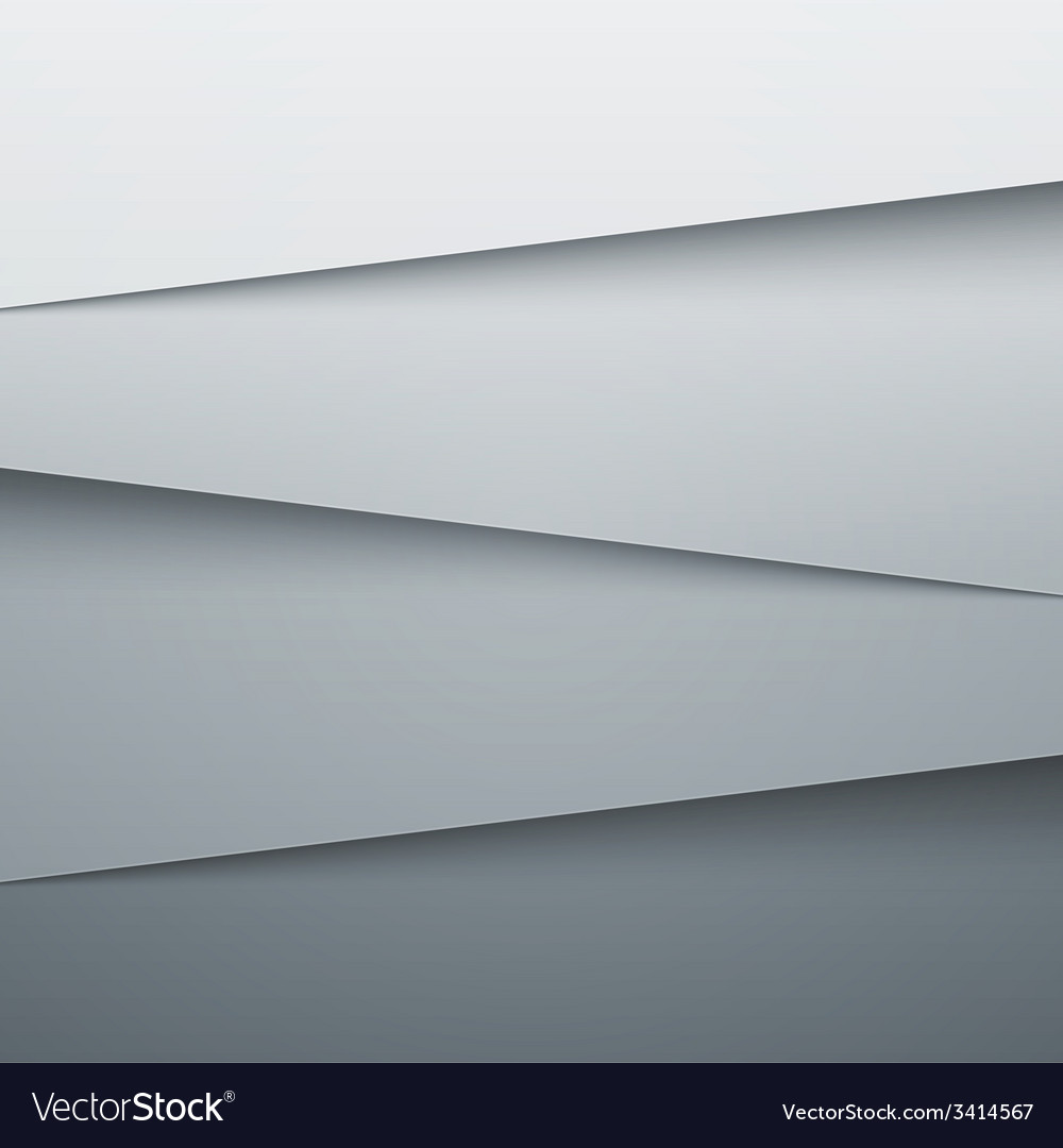 Grey paper layers abstract background vector | Price: 1 Credit (USD $1)