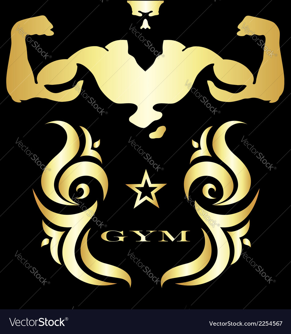 Gym and fitness symbol vector | Price: 1 Credit (USD $1)