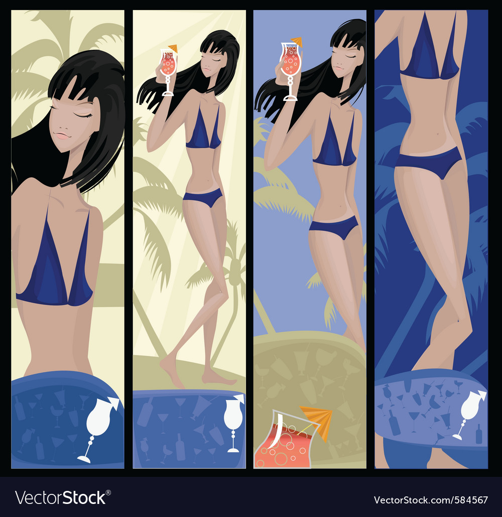 Summer girl vector | Price: 3 Credit (USD $3)