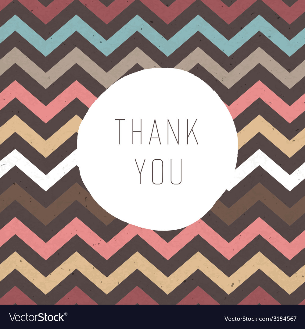 Thank you card zigzag vector | Price: 1 Credit (USD $1)