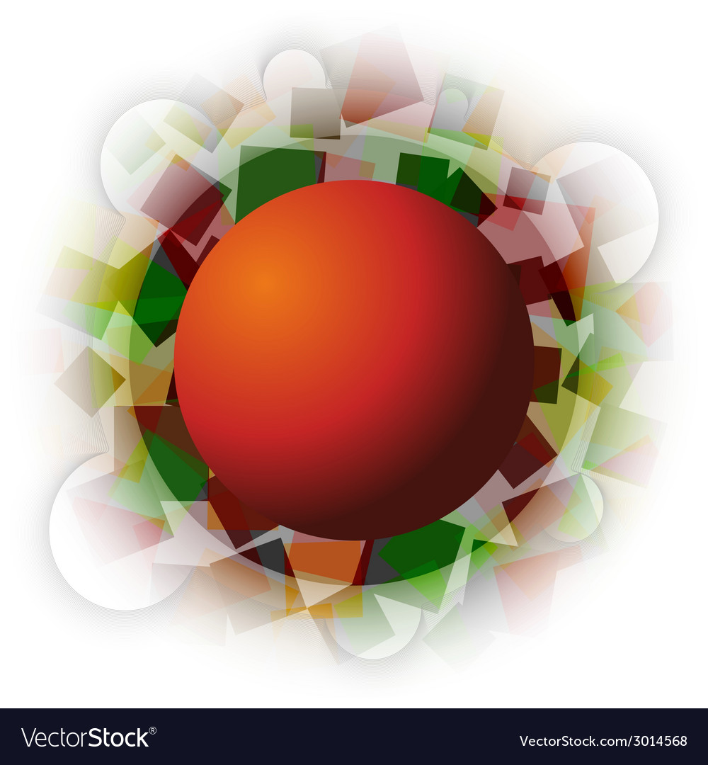 Abstract autumn squares with sphere in the middle vector | Price: 1 Credit (USD $1)