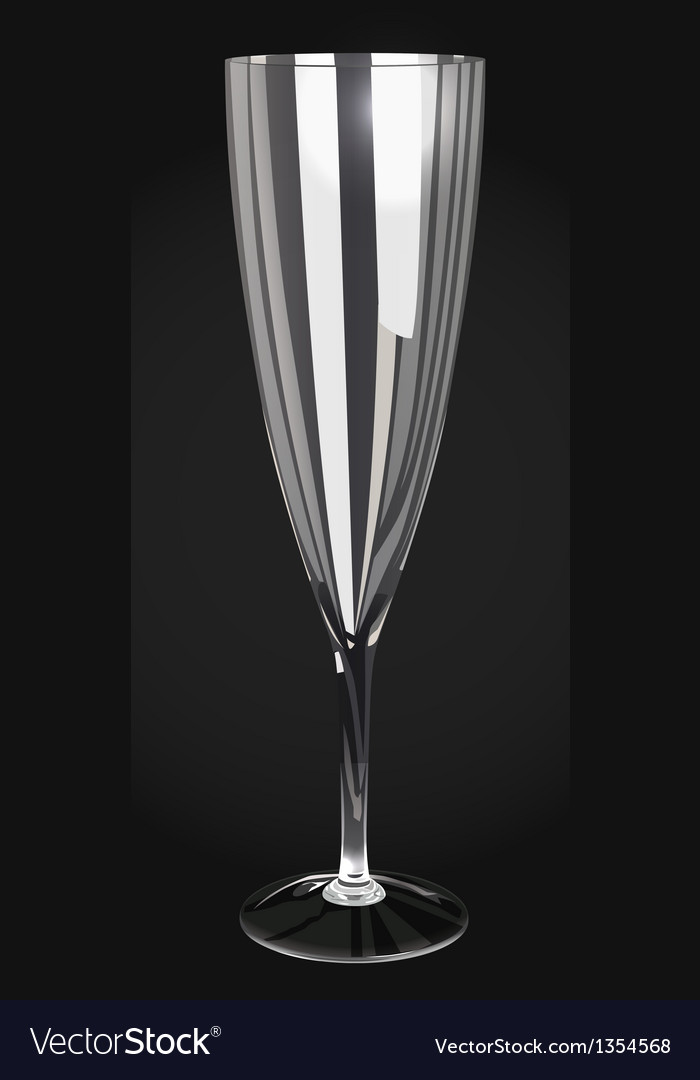 Champagne glass vector | Price: 1 Credit (USD $1)