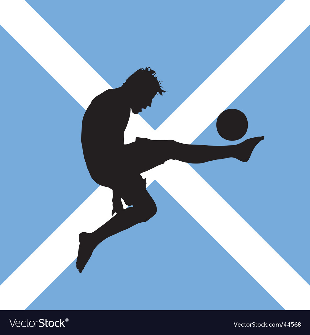 Football player with scottish flag vector | Price: 1 Credit (USD $1)