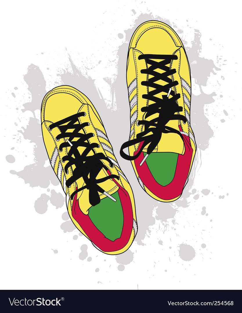 Grunge shoes vector | Price: 1 Credit (USD $1)