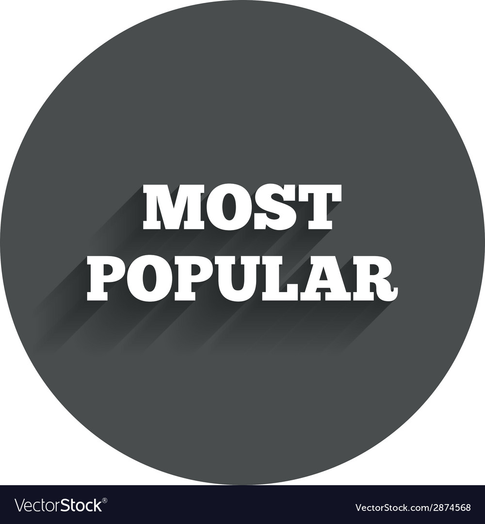 Most popular sign icon bestseller symbol vector | Price: 1 Credit (USD $1)
