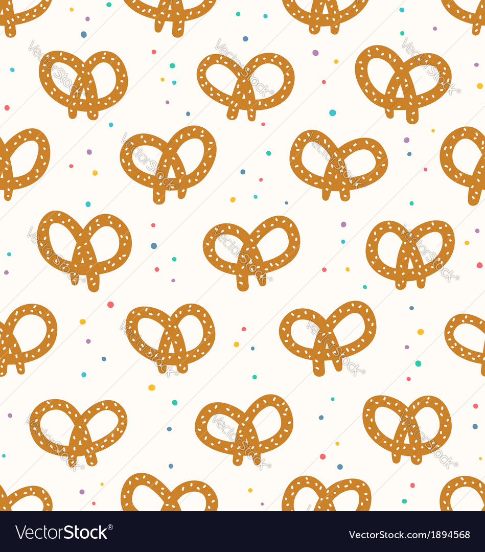 Pretzels pattern vector | Price: 1 Credit (USD $1)