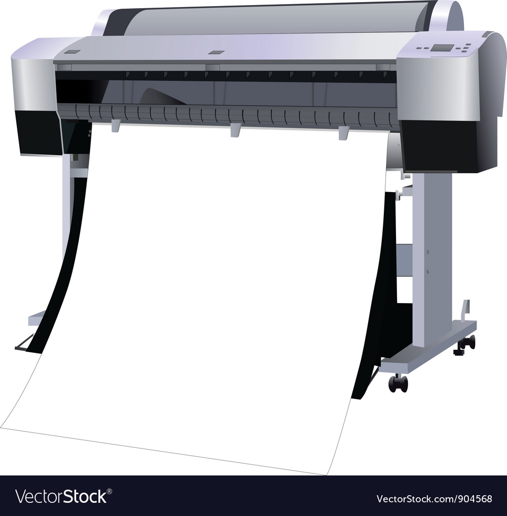 The printer industrial vector | Price: 1 Credit (USD $1)