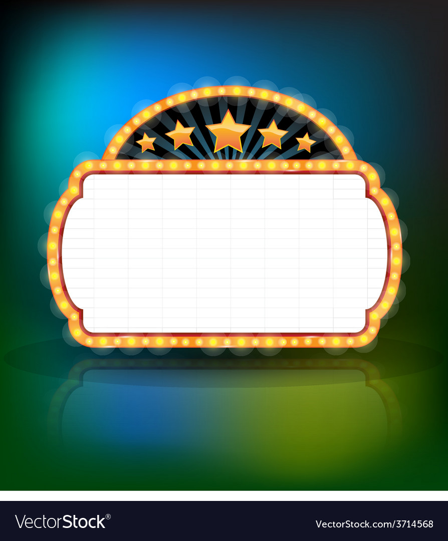 Showtime retro signs retro vintage frame banner vector | Price: 1 Credit (USD $1)