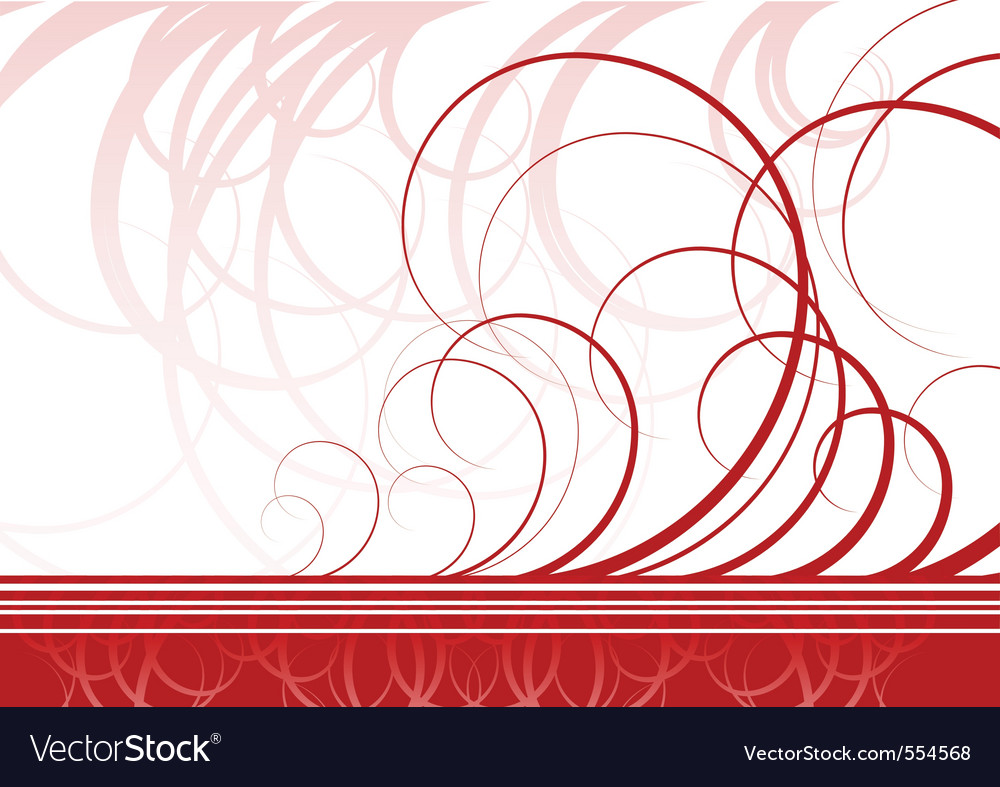 Swirl background in red color vector | Price: 1 Credit (USD $1)