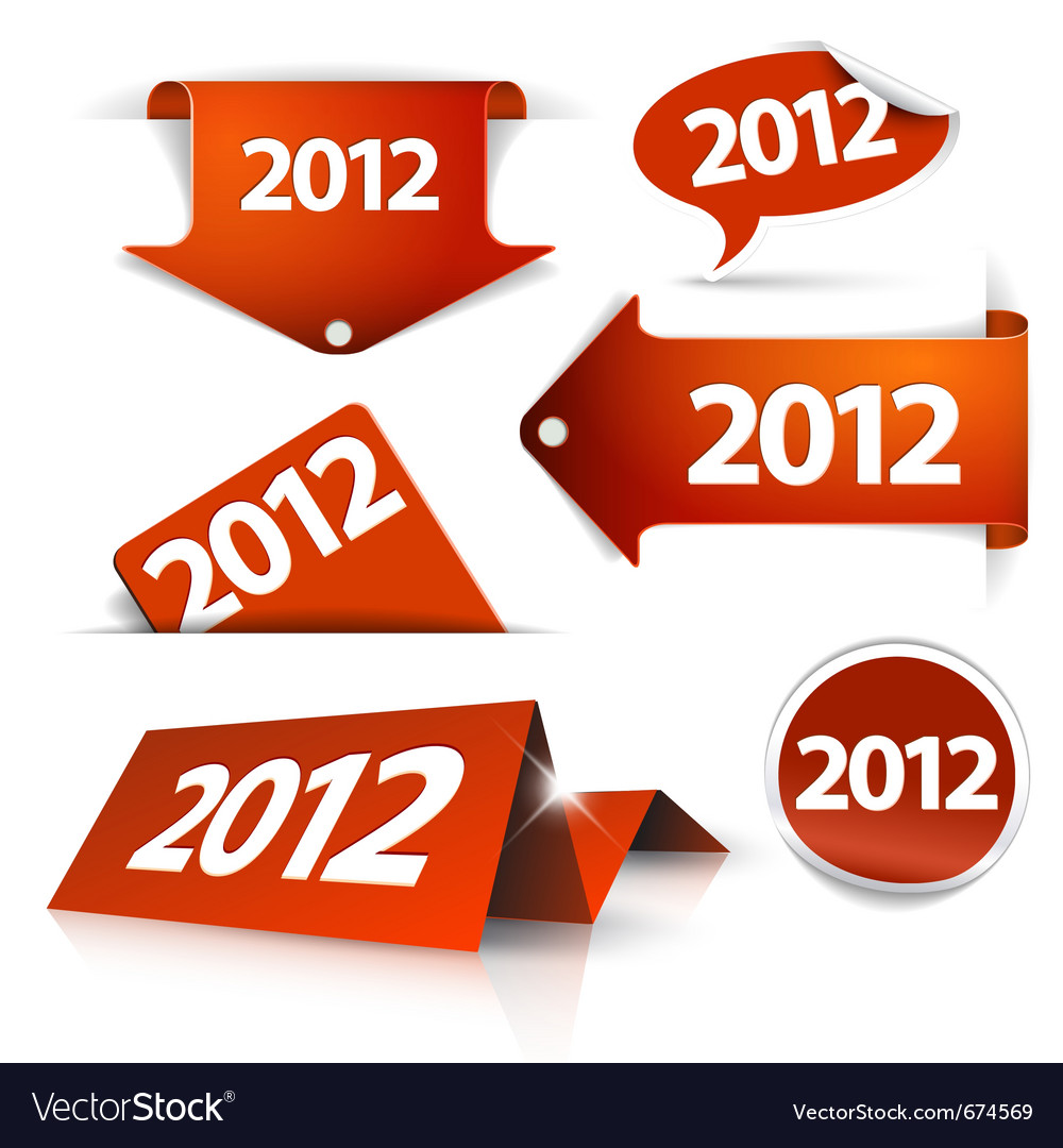 2012 labels vector | Price: 1 Credit (USD $1)
