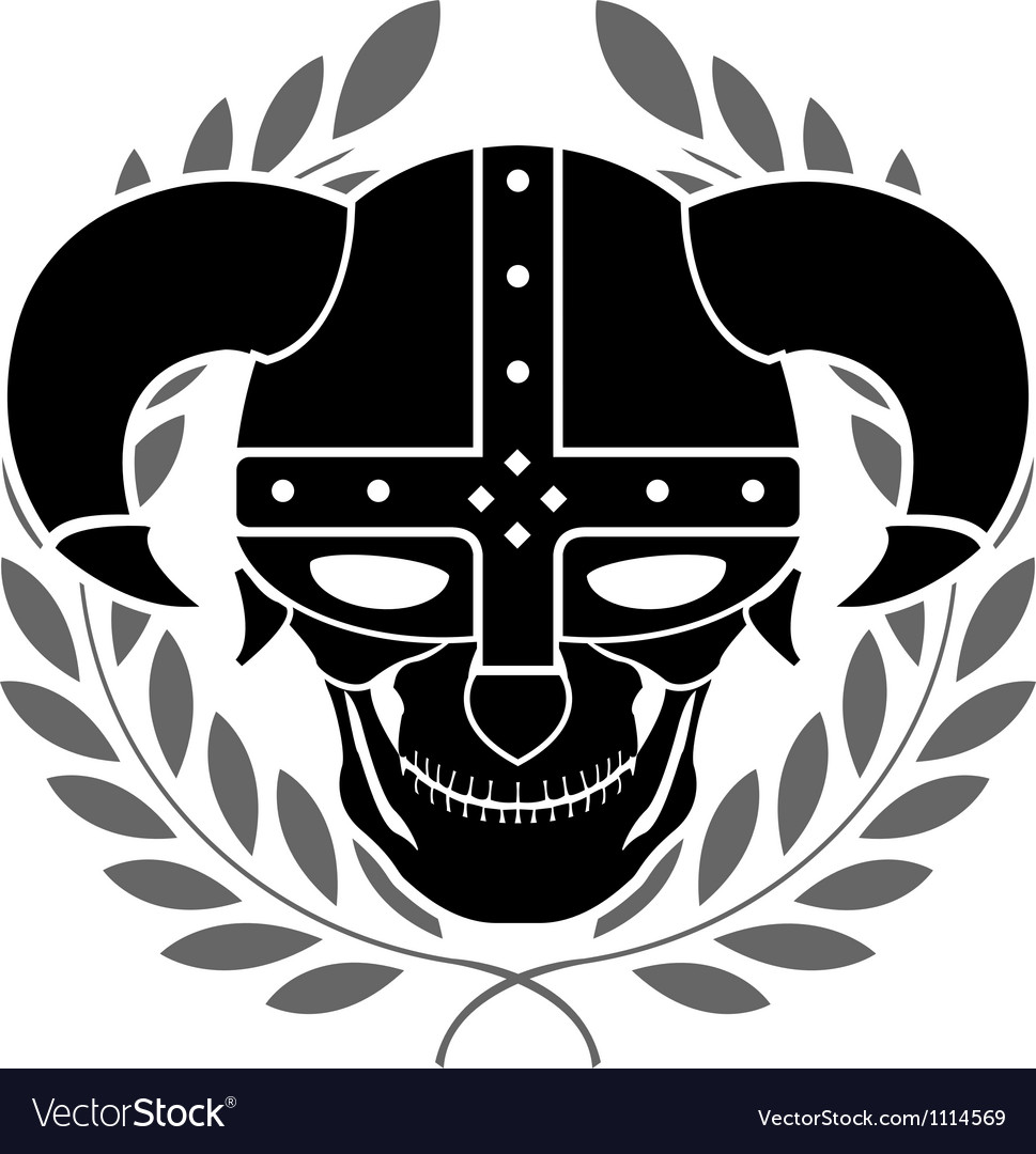 Fantasy helmet with laurel wreath vector | Price: 1 Credit (USD $1)
