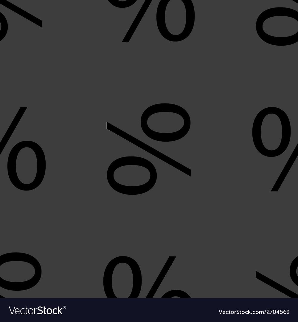 Flat design seamless gray pattern vector | Price: 1 Credit (USD $1)