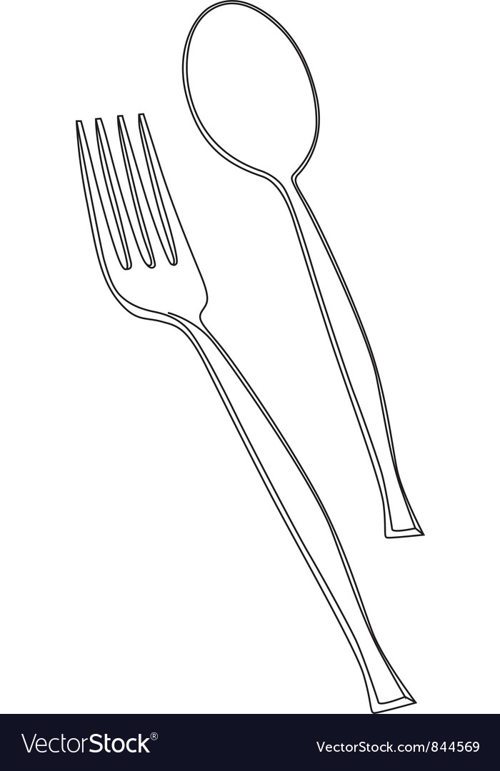 Fork and spoon vector | Price: 1 Credit (USD $1)