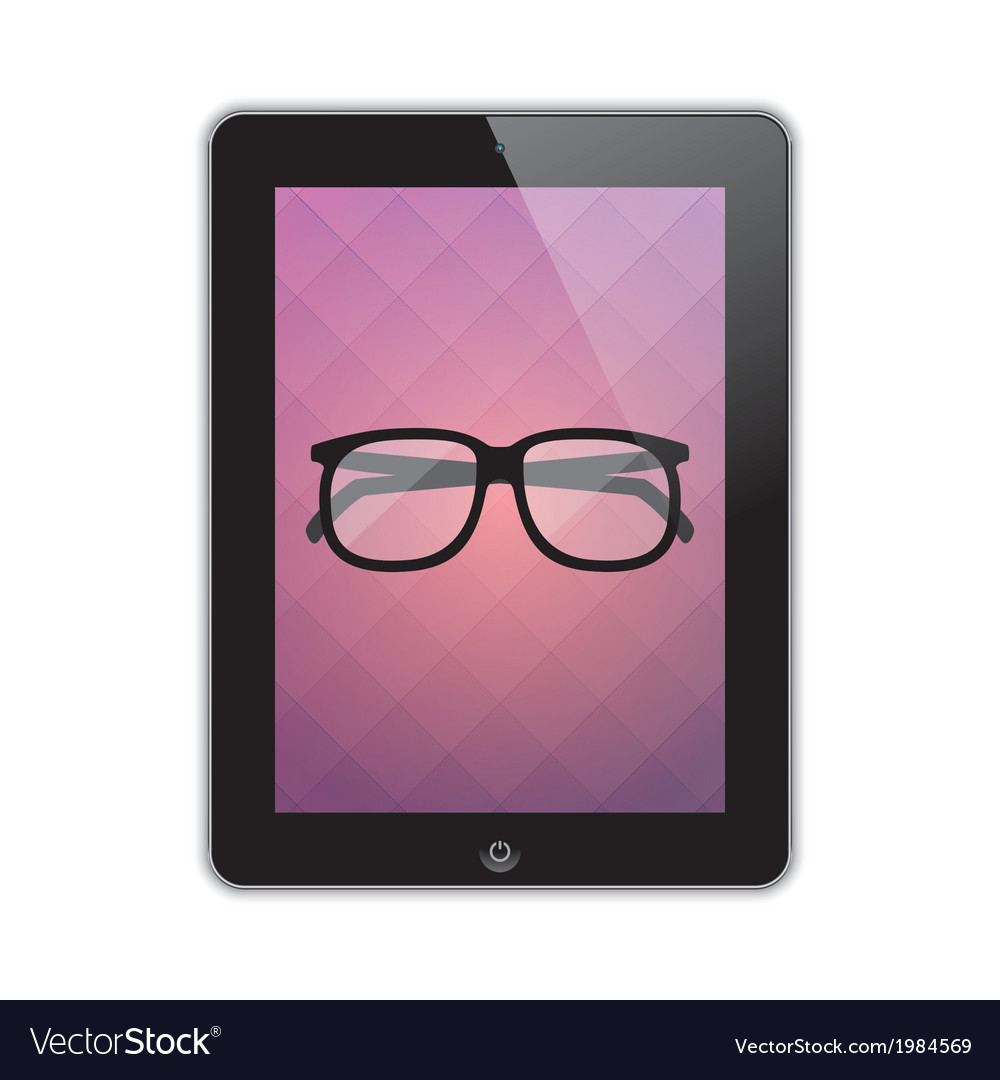 Glasses on the screen vector | Price: 1 Credit (USD $1)