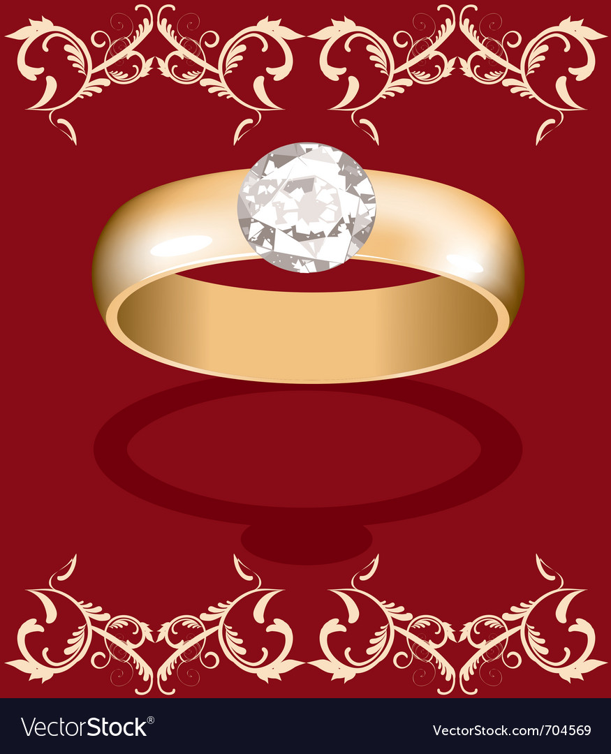 Golden ring vector | Price: 1 Credit (USD $1)