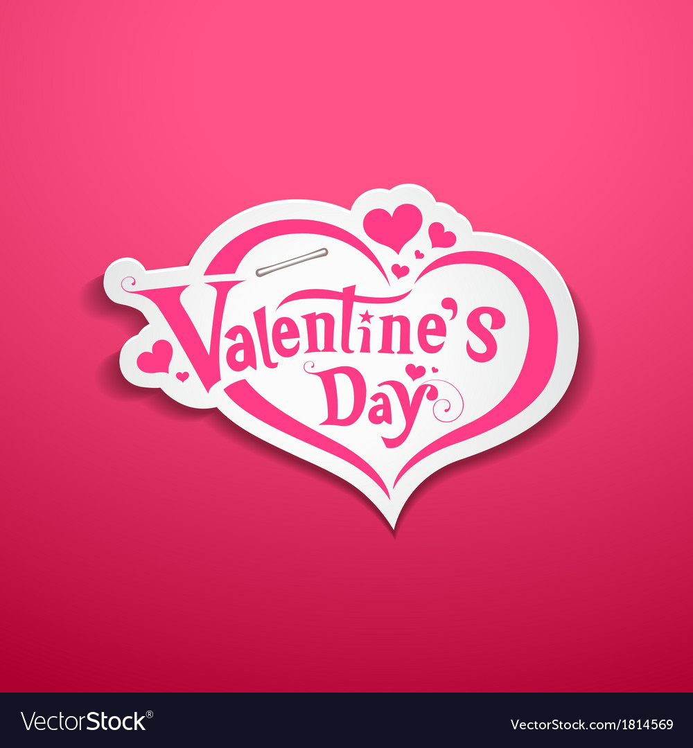 Happy valentine day lettering design on pink vector | Price: 1 Credit (USD $1)