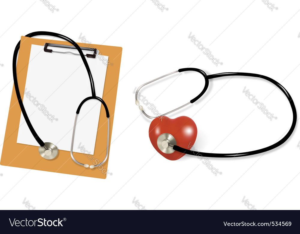 Stethoscope and blank vector | Price: 1 Credit (USD $1)