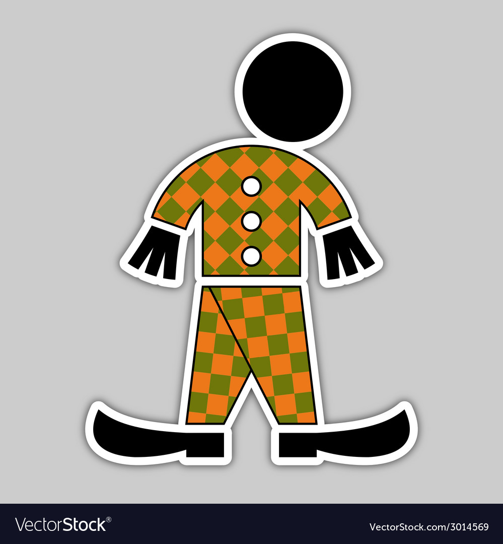 Sticker - fall green and orange figure vector | Price: 1 Credit (USD $1)