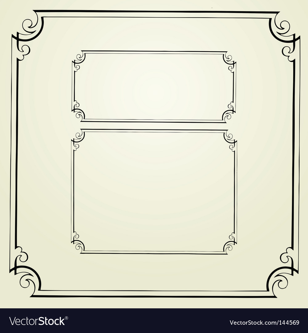 Swirl frames vector | Price: 1 Credit (USD $1)