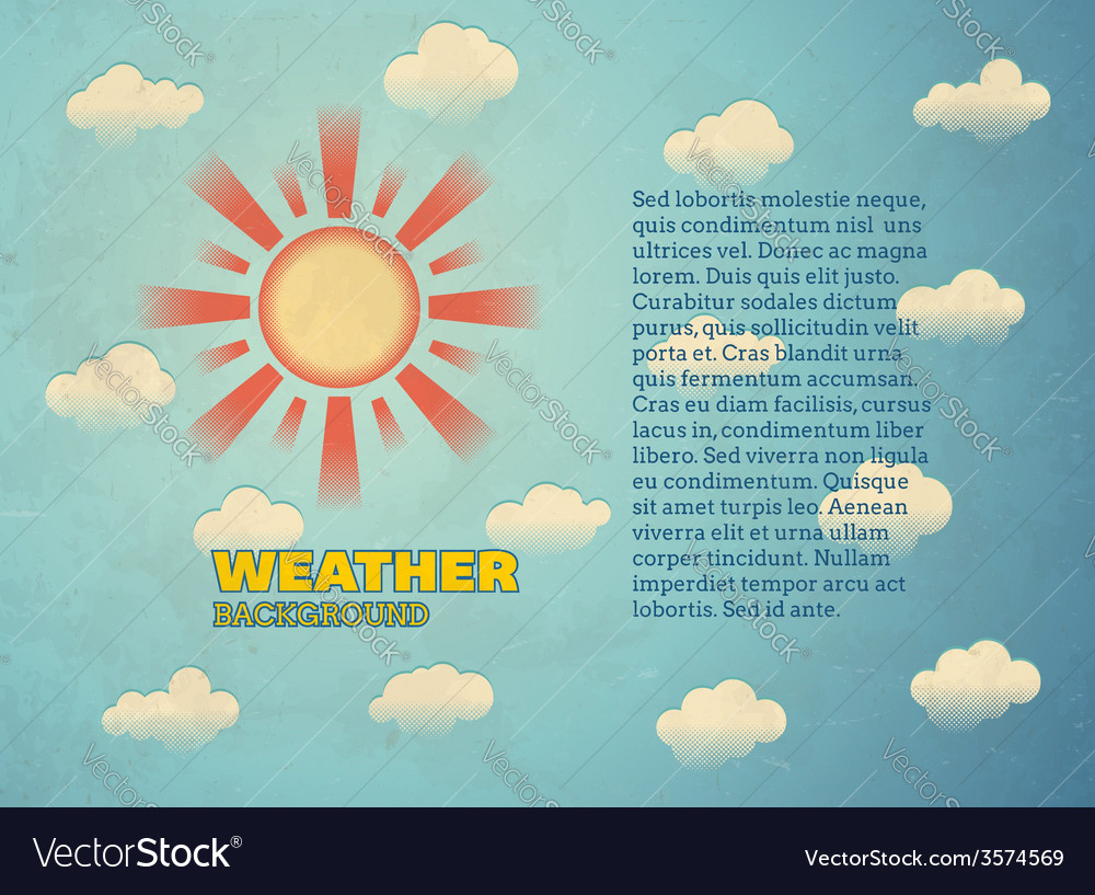 Vintage card with sun vector | Price: 1 Credit (USD $1)