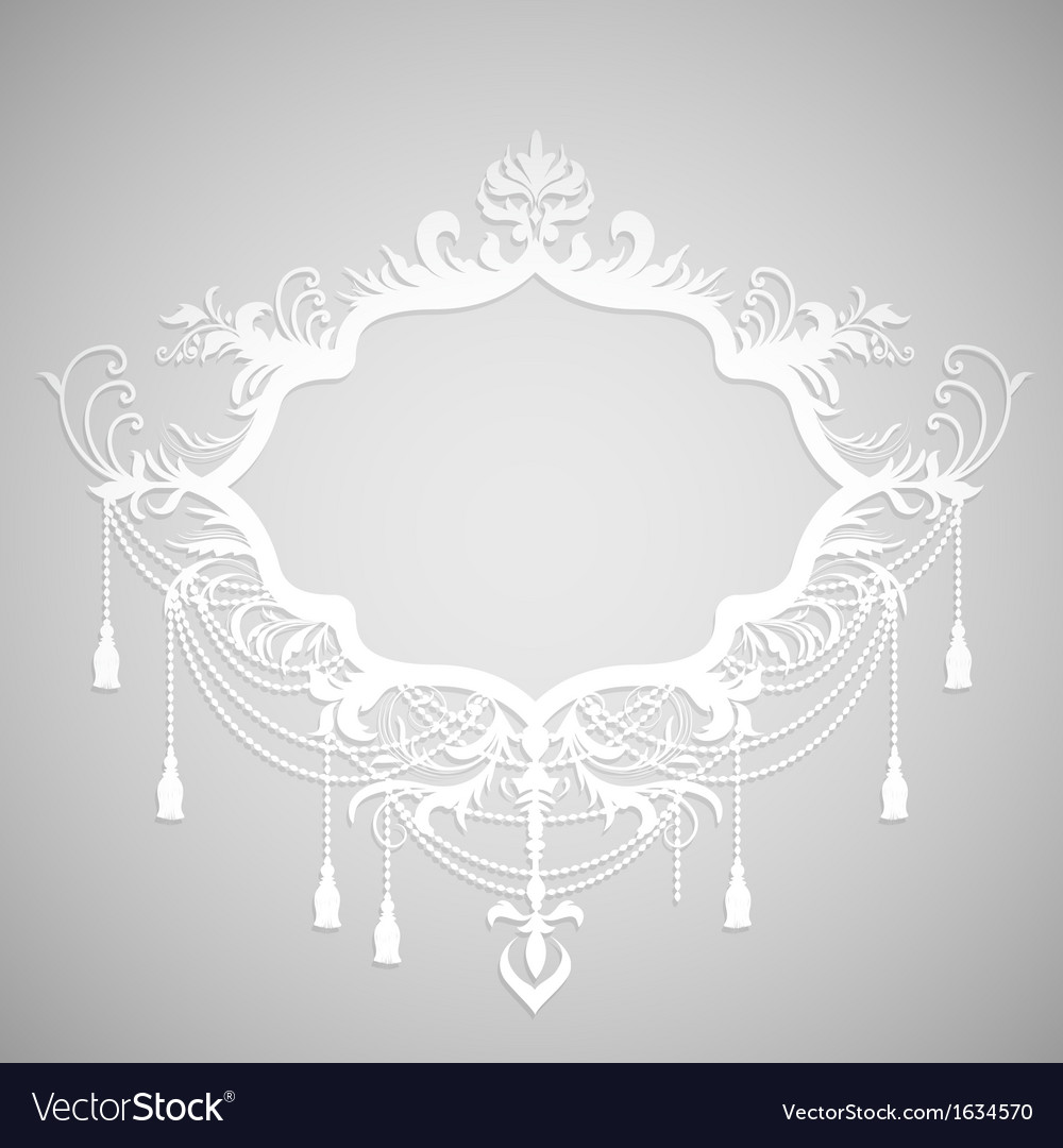Background with paper calligraphic frame vector | Price: 1 Credit (USD $1)
