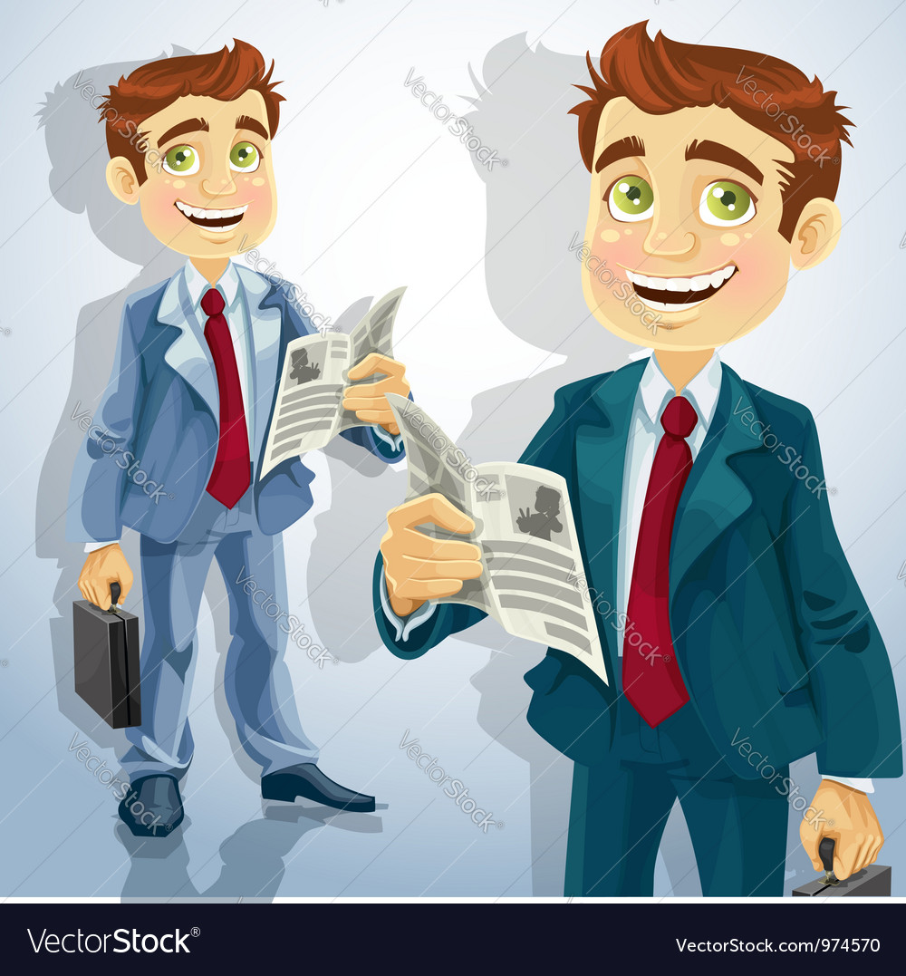 Businessman character vector | Price: 3 Credit (USD $3)