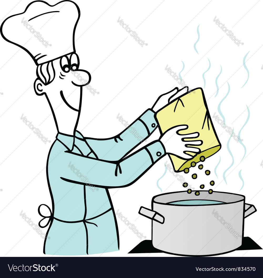Cooking man vector | Price: 1 Credit (USD $1)
