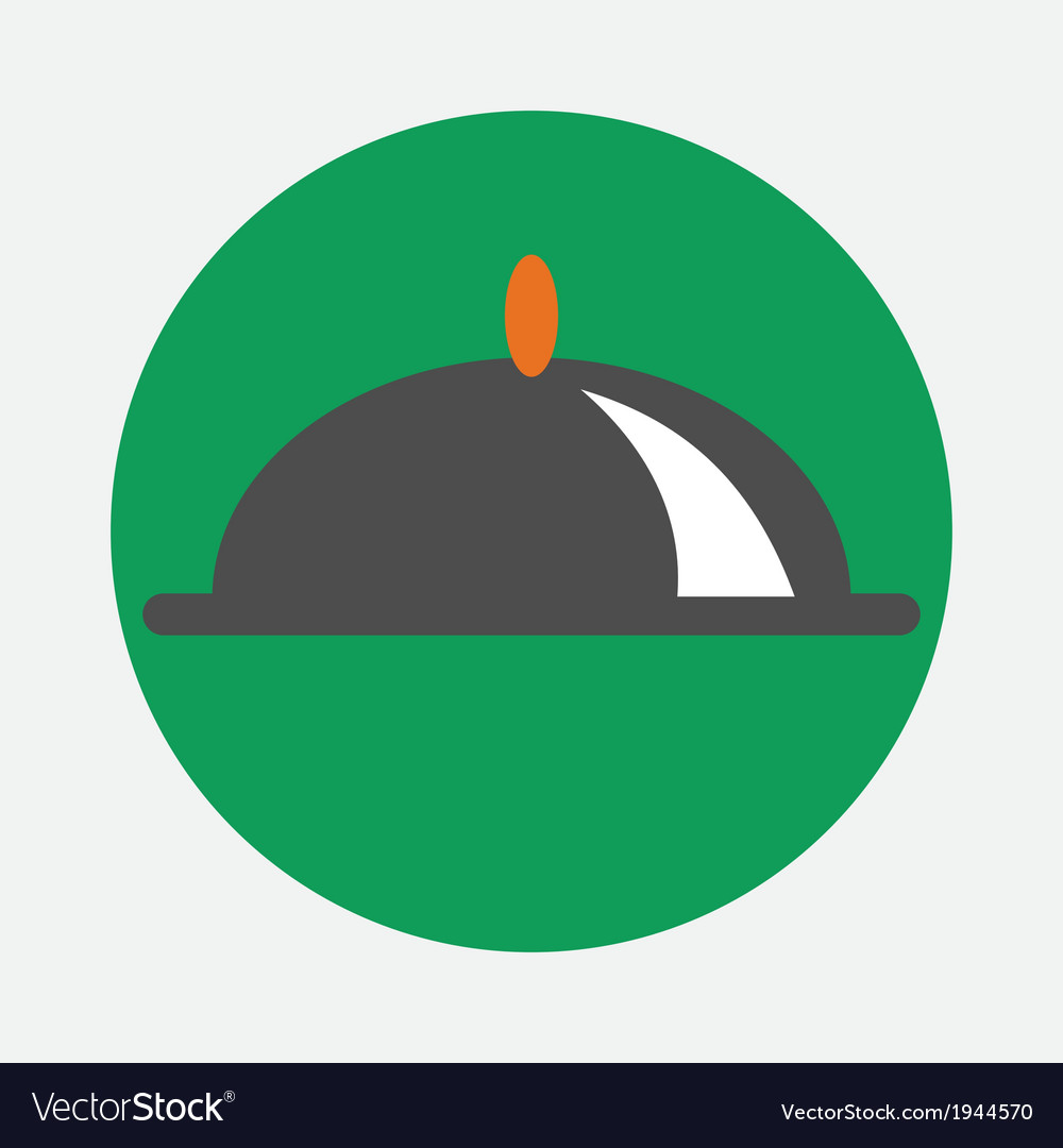 Covered dish icon vector   Price: 1 Credit (USD $1)