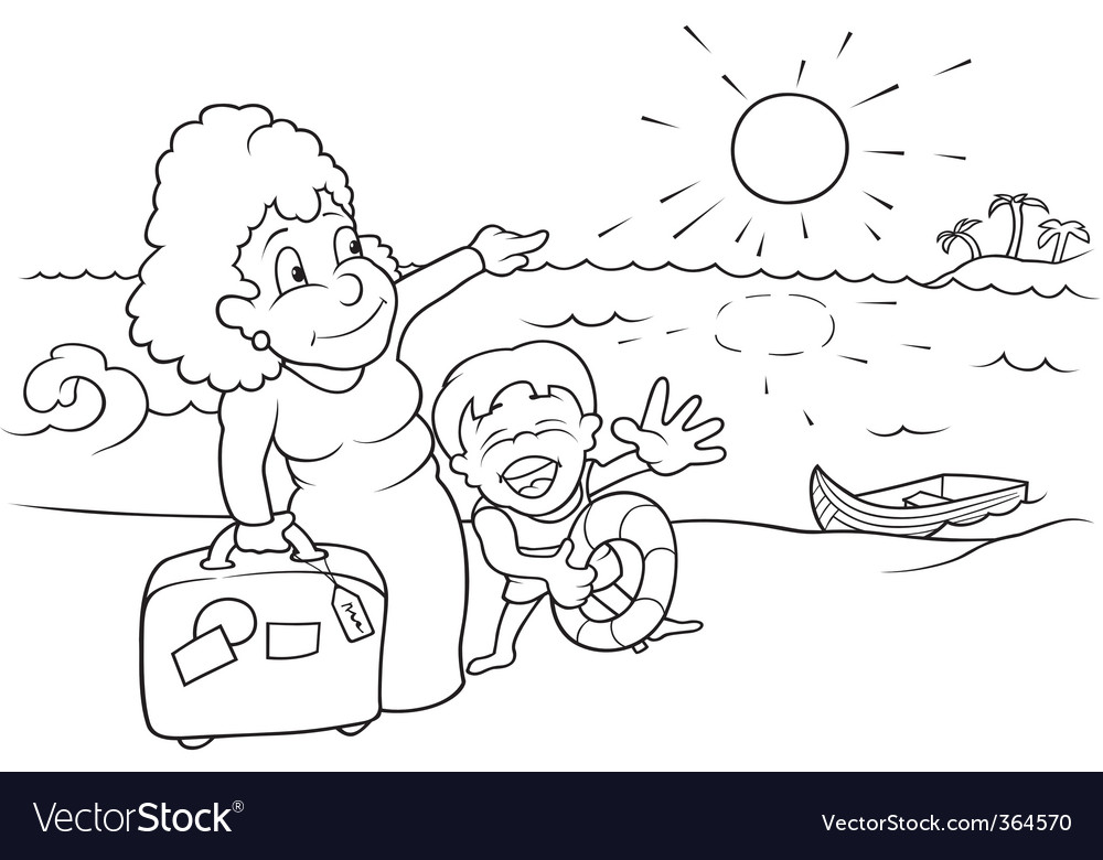 Family holiday vector | Price: 1 Credit (USD $1)