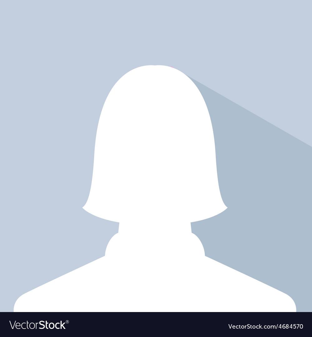 Female avatar profile picture silhouette light vector | Price: 1 Credit (USD $1)