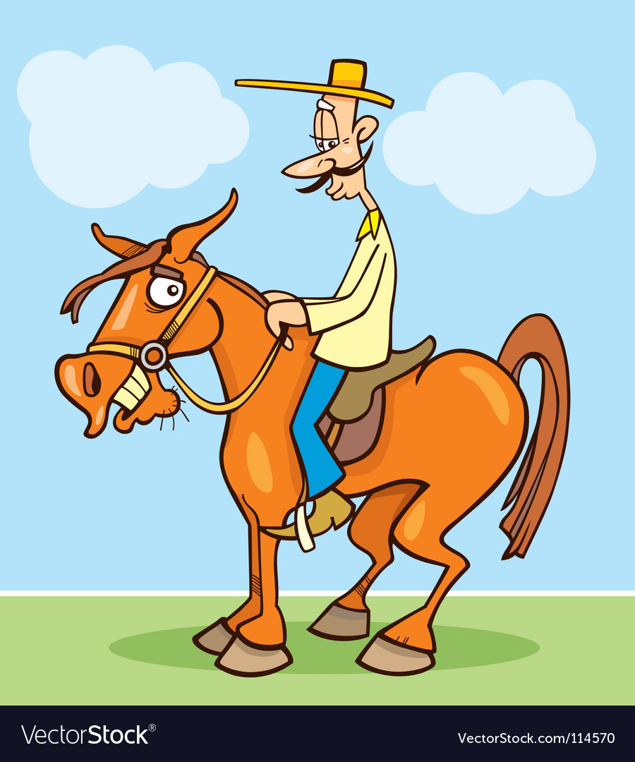 Funny horseman vector | Price: 1 Credit (USD $1)