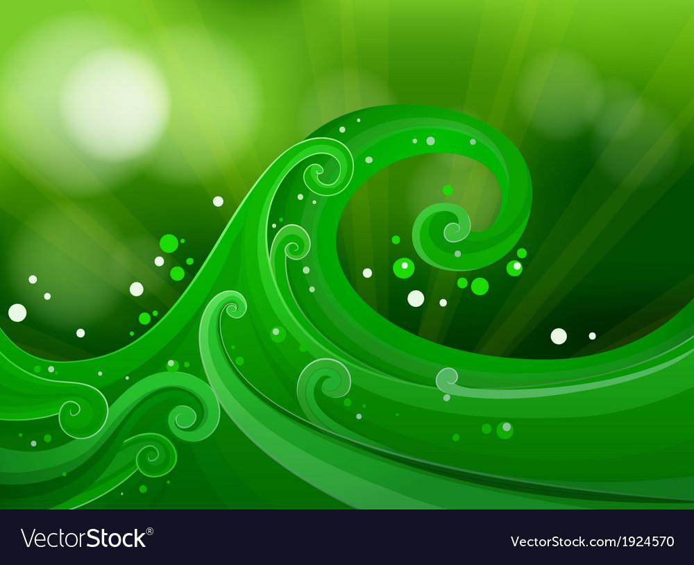 Green gradient design vector | Price: 3 Credit (USD $3)