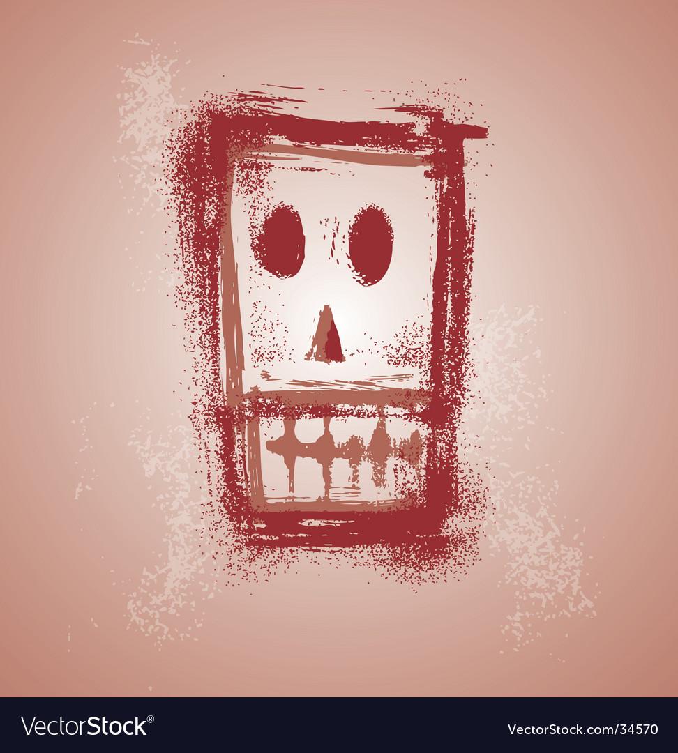 Grunge skull face vector   Price: 1 Credit (USD $1)