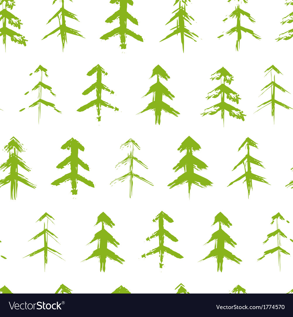 Grungy chrismas tree seamless pattern vector | Price: 1 Credit (USD $1)