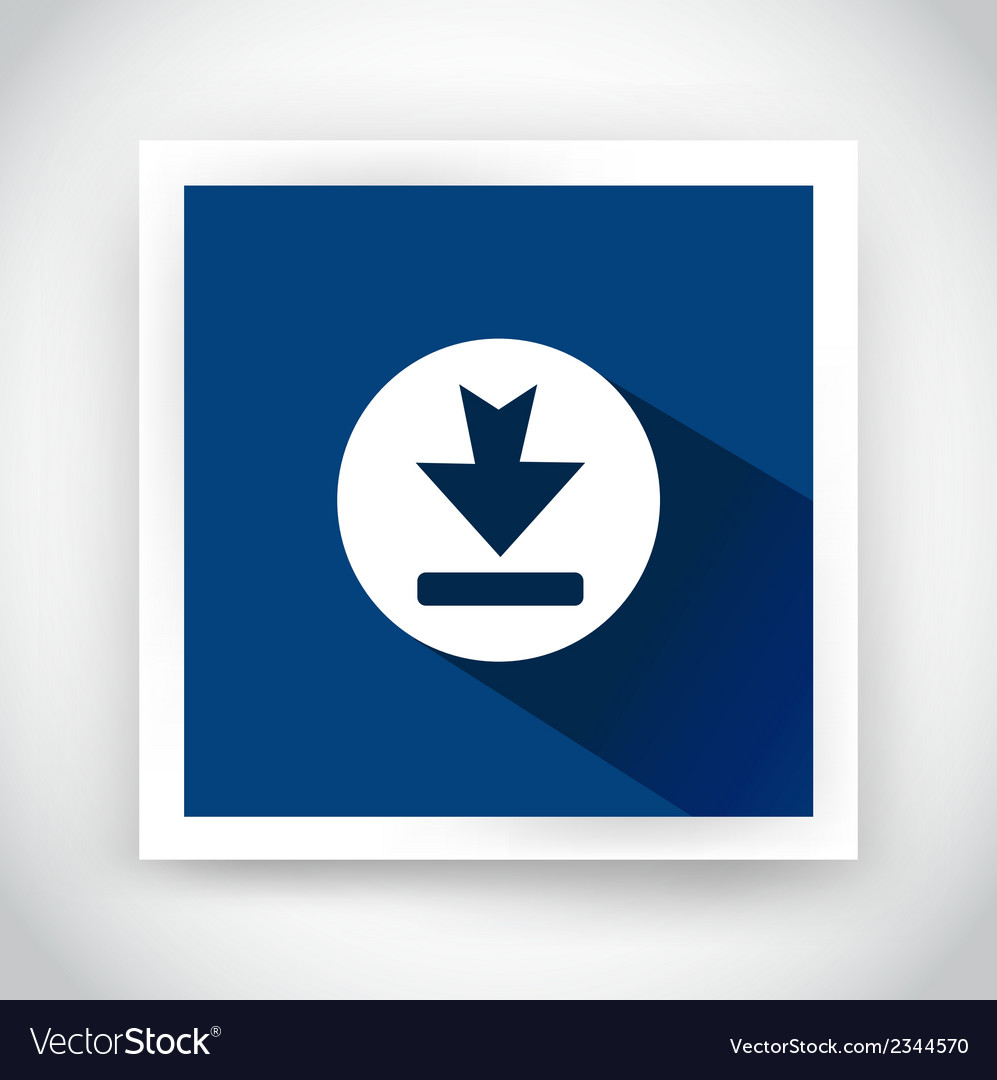 Icon of download for web and mobile applications vector | Price: 1 Credit (USD $1)