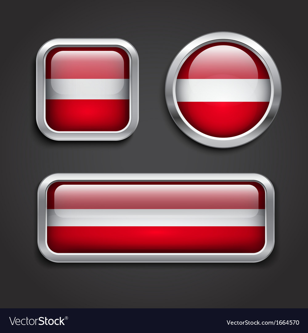 Latvia flag glass buttons vector | Price: 1 Credit (USD $1)