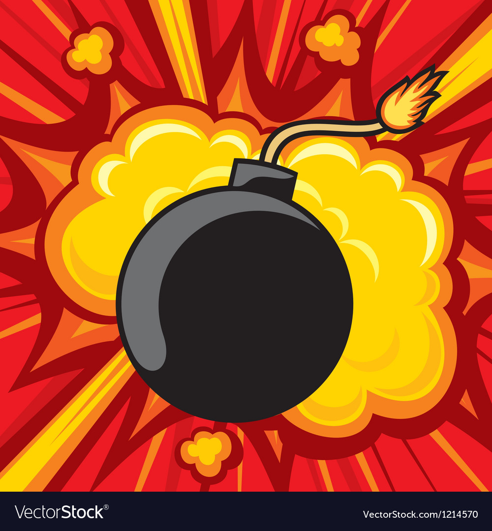 Old bomb starting to explode vector | Price: 3 Credit (USD $3)